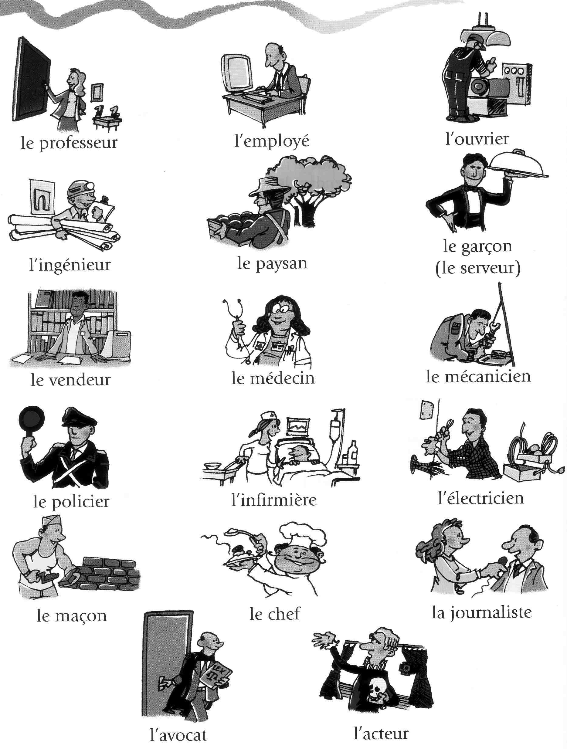 Professions 1 French