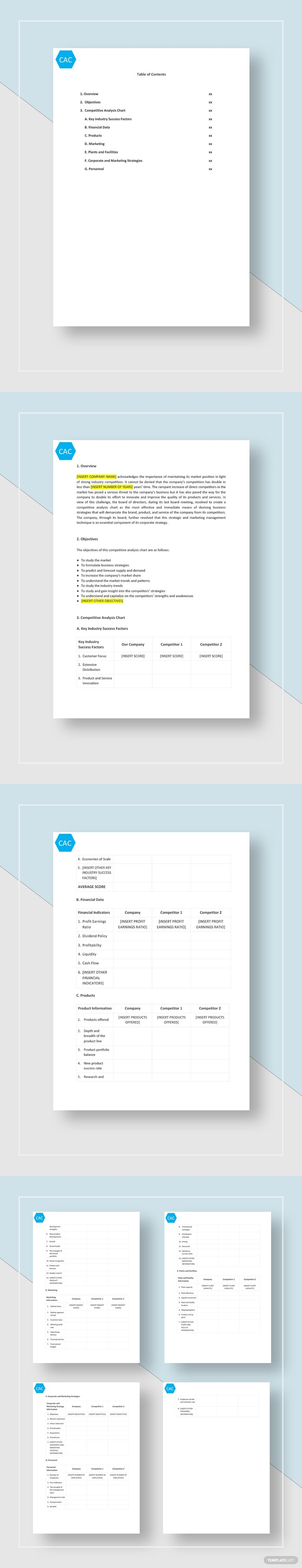 Competitive Analysis Chart Template Free Pdf Google Docs Word Template Net Competitive Analysis Templates Document Templates