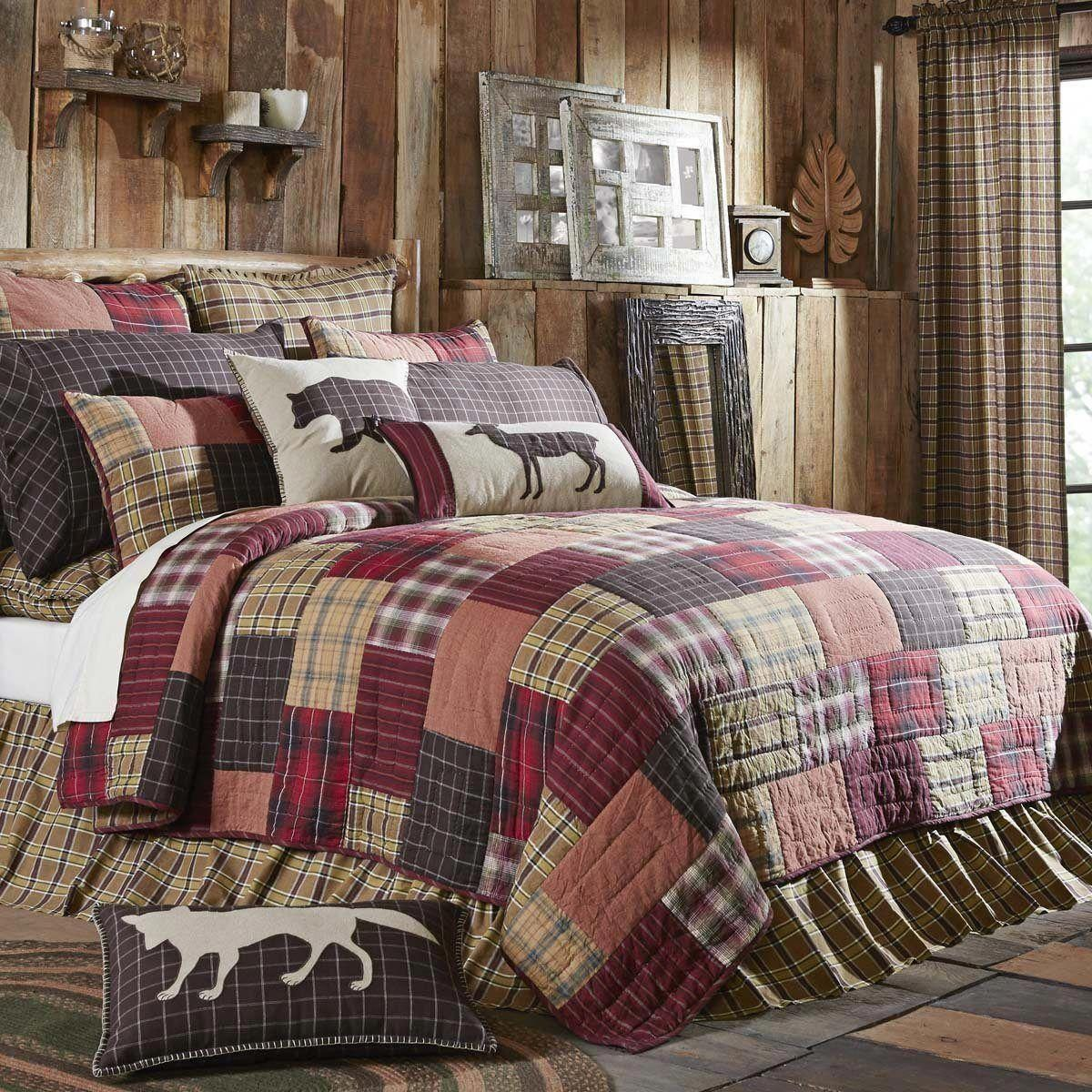 Rustic Home Decor Cozy Rusticdecortips In 2020 Rustic Bedding Rustic Bedroom California King Quilts