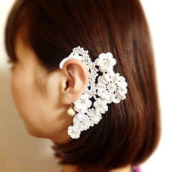 crochet ear cuff   ...:::JewerlY.CrocheT:::...   Pinterest   Tejido