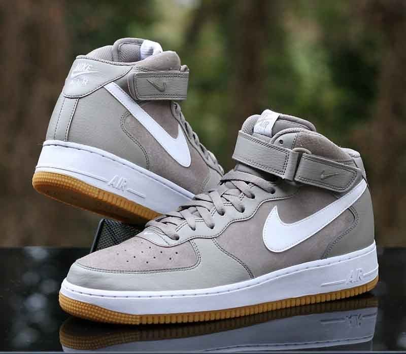 Nike Air Force 1 Mid Gum '07 Light Taupe Blanco Gum Mid Light 315123 204 0a7172