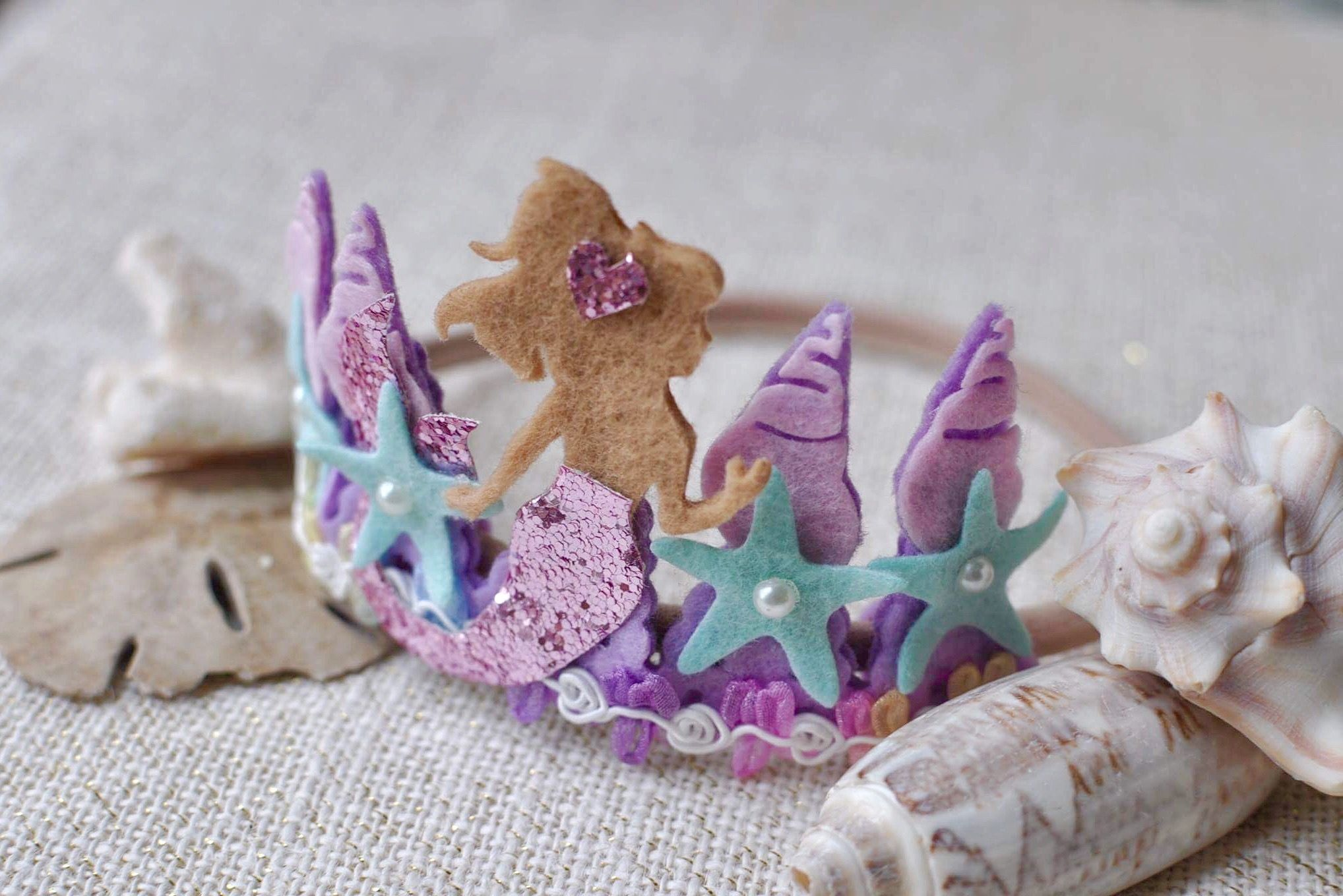 mermaid birthday mermaid crown mermaid baby sea shell crown