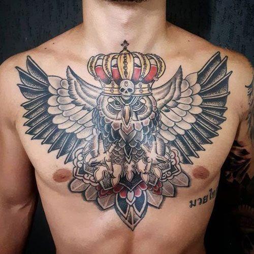 125 Best Owl Tattoos For Men Cool Designs Ideas 2021 Guide Mens Owl Tattoo Tattoo Designs Men Owl Tattoo