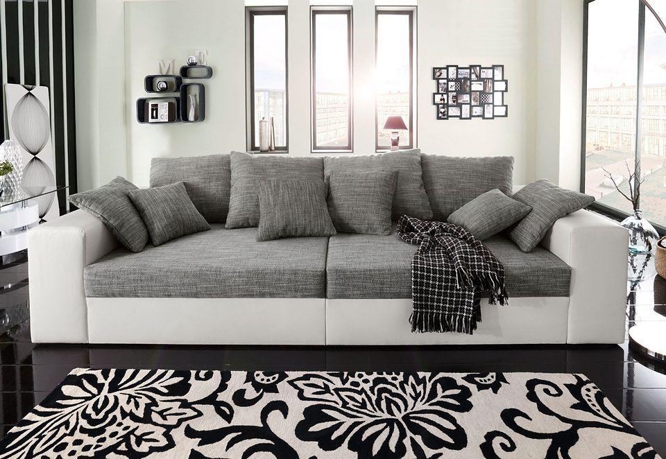 Big-Sofa schwarz, XXL, mit Bettkasten, FSC®-zertifiziert, yourhome - wohnzimmer couch schwarz