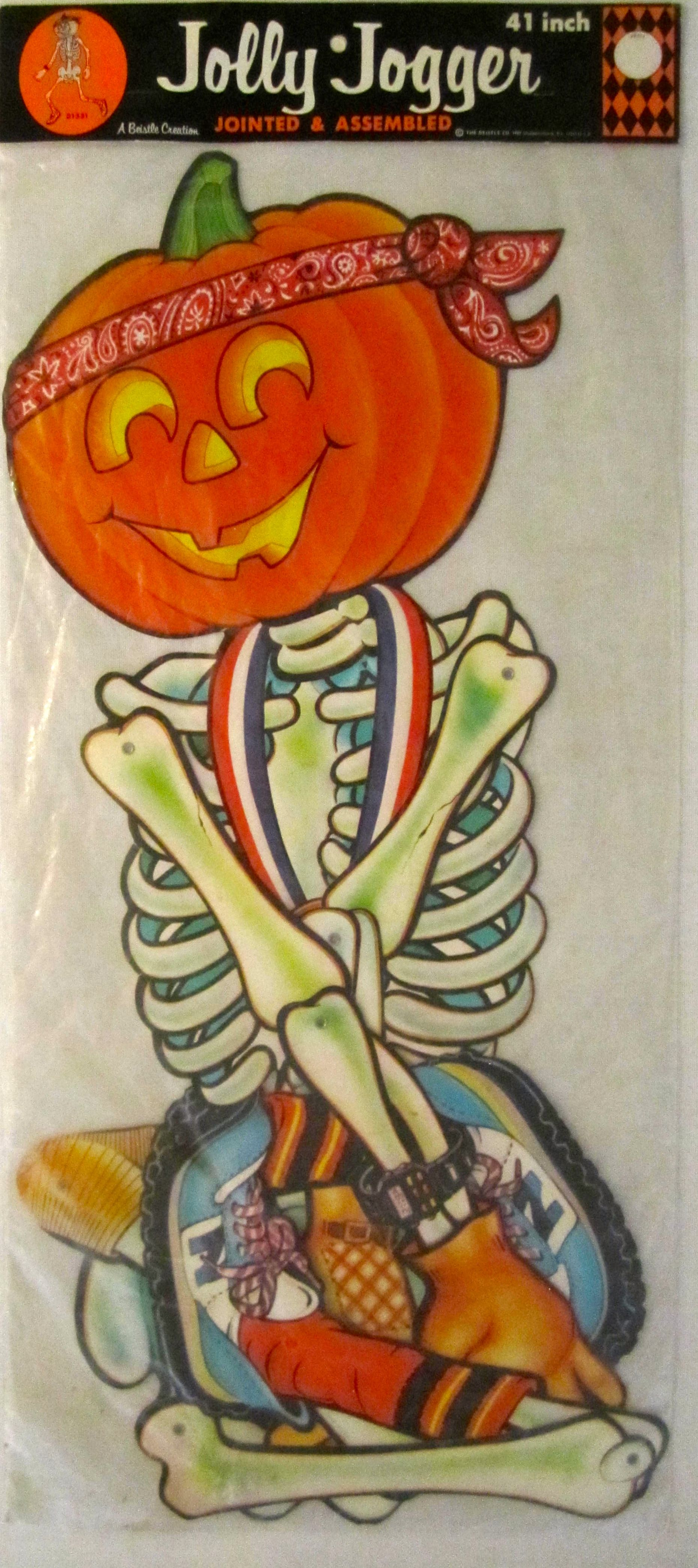Vintage beistle halloween decorations - My Vintage Beistle Jolly Jogger Wow The