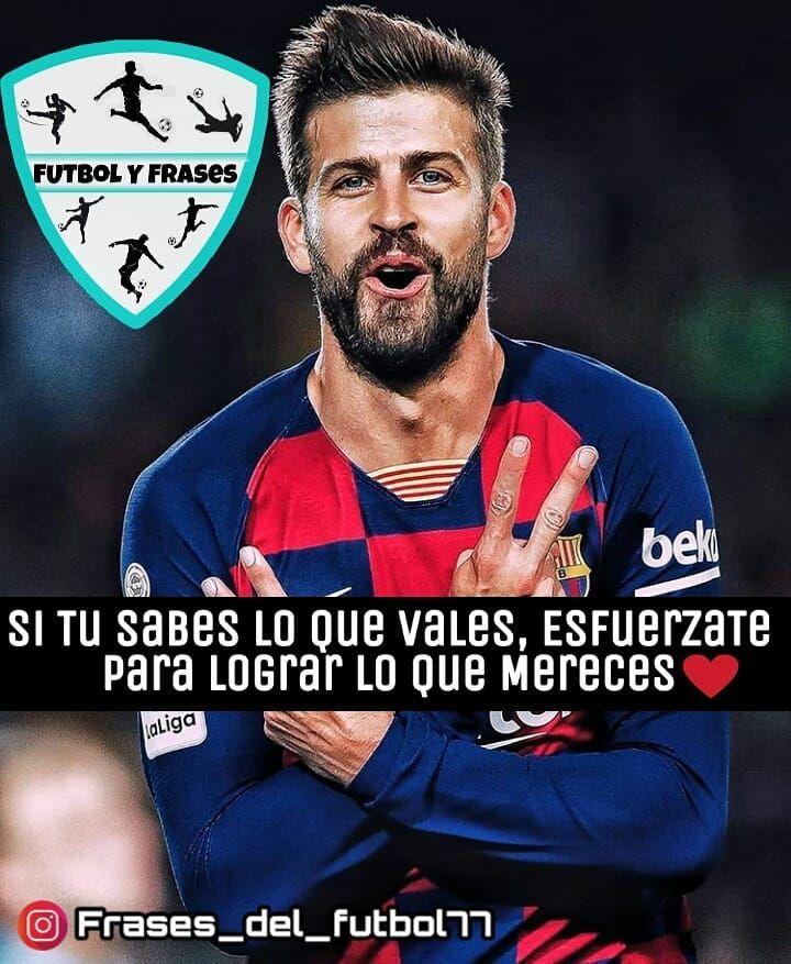💕⚽ #frasesdefutbol #frases #fútbol #barcelona #fcbarcelona #pique #rakuten #nike #blaugrana #leomessi #cristianoronaldo #neymar #laliga #españa #motivación #amor #fifa20 #realmadrid #psg #juventus #soccer #salah #coutinho #bayernmunich