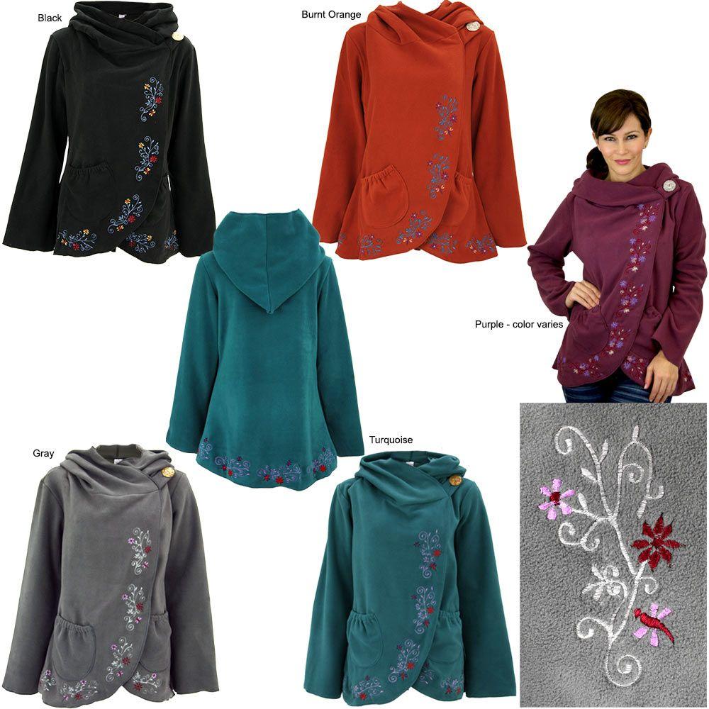 Flowering Vines Fleece Wrap Jacket | Flowering vines, Wraps and Hoody