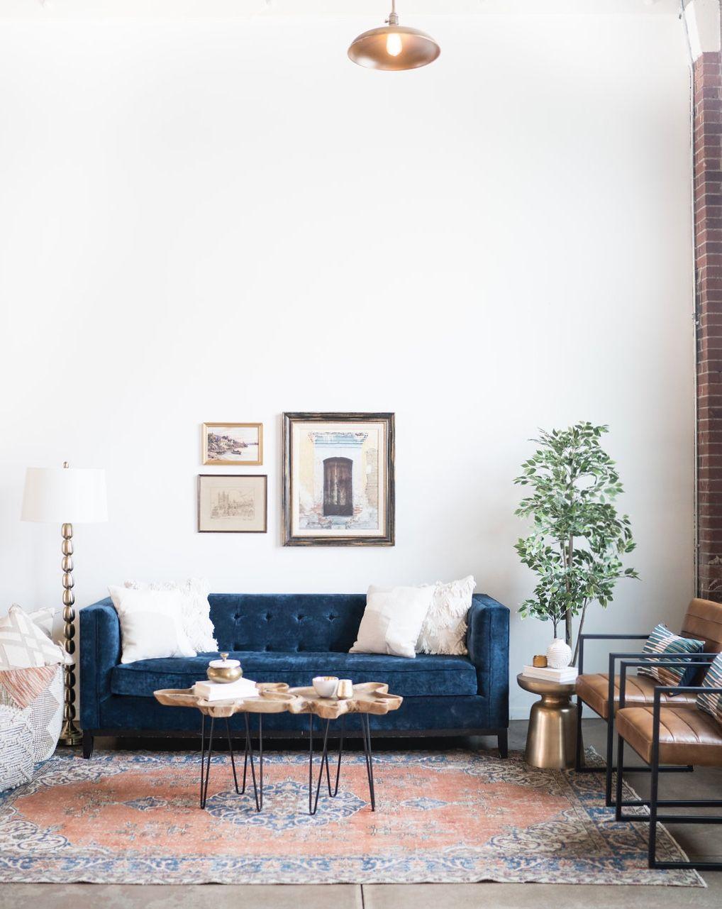 Best Colour Crush Terracotta And Navy Living Room Decor 400 x 300