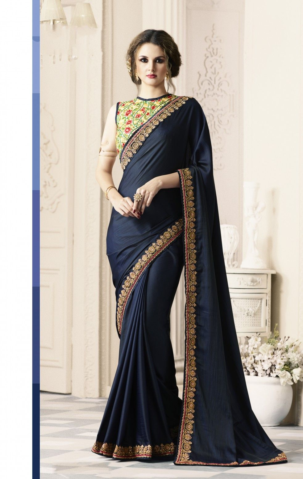 8228674943 Buy Navy Blue color Silk Saree Online at Low prices in India on Winsant # saree #cottonsaree #designer #fashion #style #ethnic #ethnicwear  #onlineshopping ...