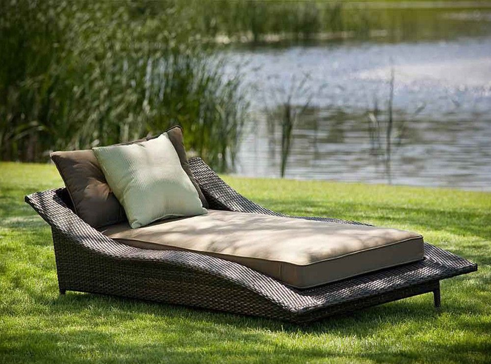 Unique Brown Wicker Outdoor Chaise Lounge Chair The Best Wood