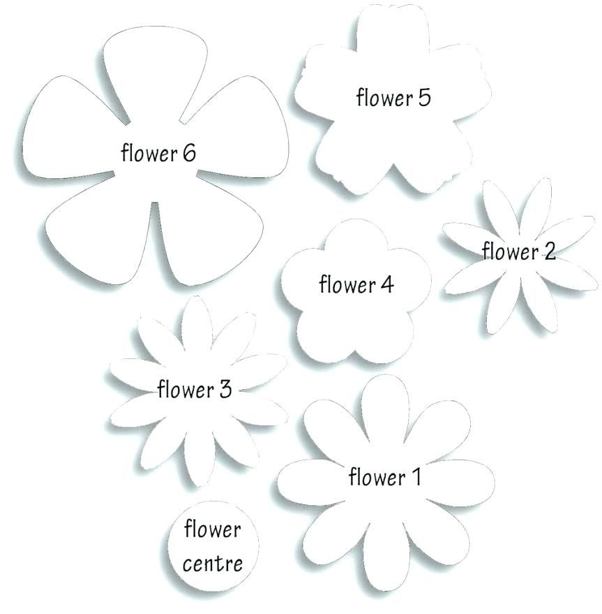 Free Printable Flower Template Free Printable Paper Rose Template