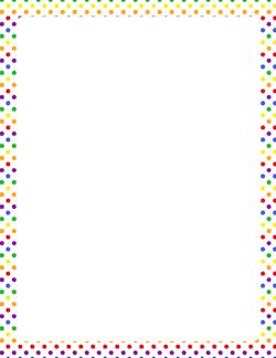 rainbow polka dot border scrapbook cookbook pinterest page