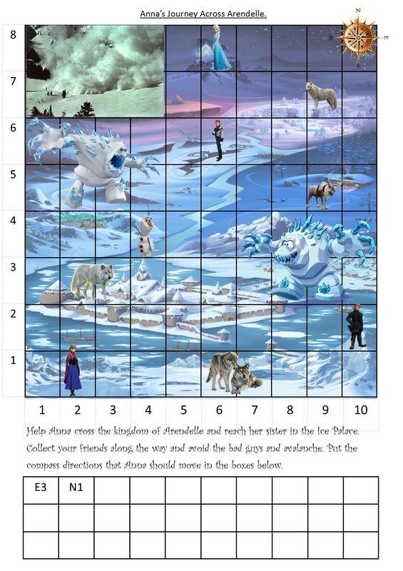 Frozen Maths Coordinates   Math Primary   Pinterest   Math and Numeracy