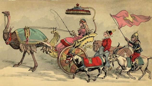 circus procession 1888 public domain books copyright free