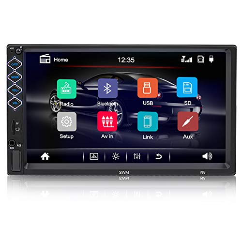 Double Din Car Stereo Auto Radio with Bluetooth 9 HD Touch Screen Car Radio Car MP5 Player Support FM USB Steering Wheel Control Mirror Link Backup Camera