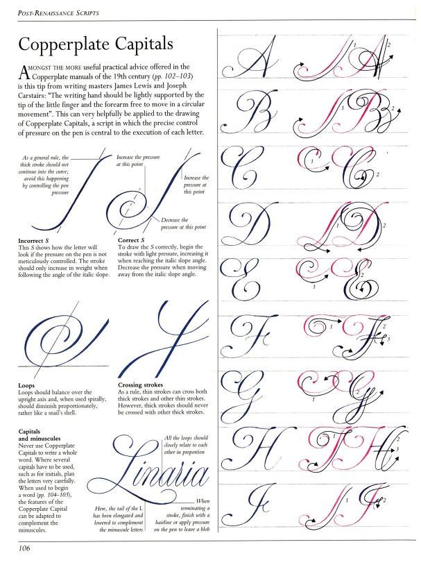 P106 A J Copperplate Capital Tutorial The Art Of Calligraphy