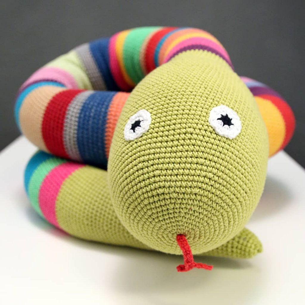 Jake the Snake – Amigurumi Crochet Pattern | | Bonecas de crochê ... | 1024x1024