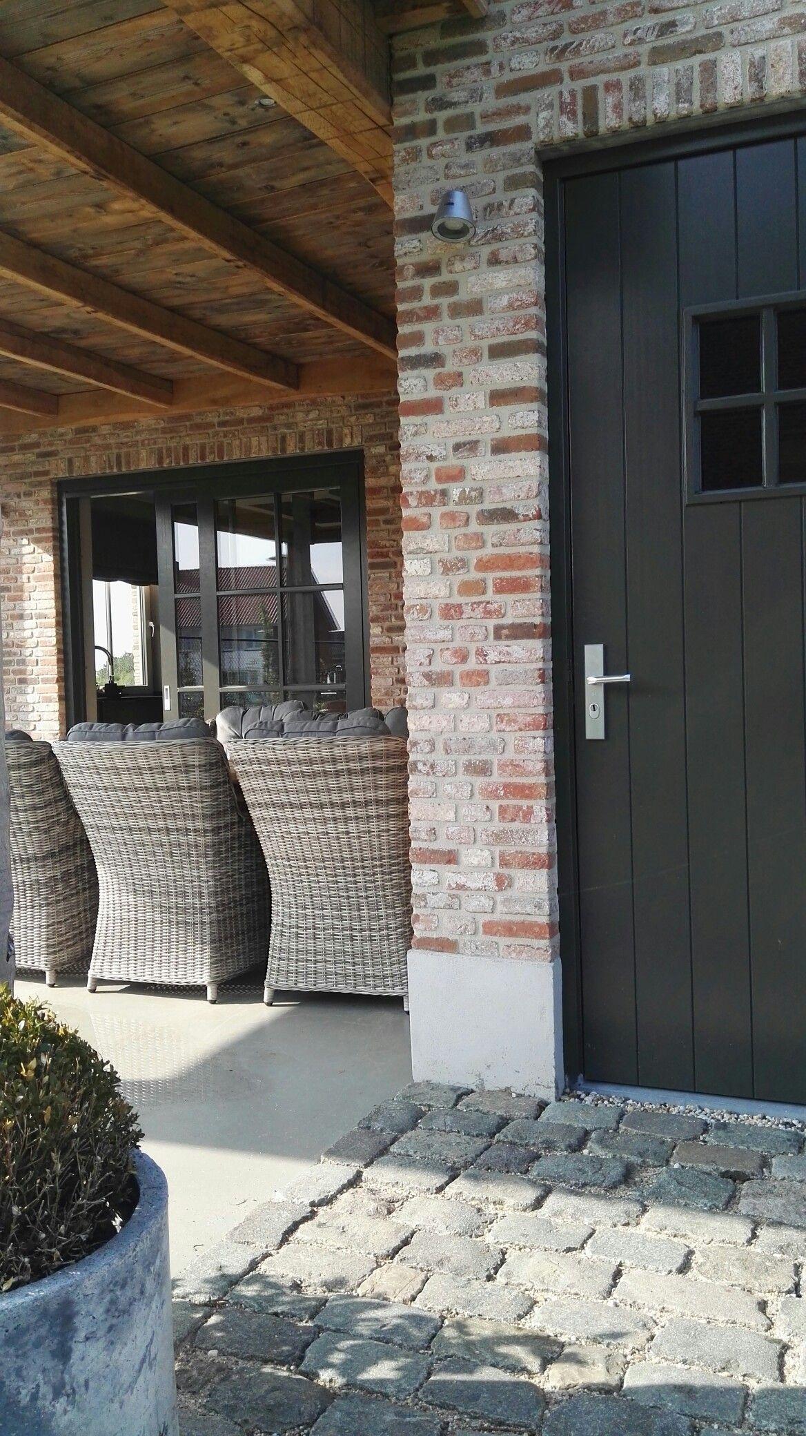Veranda, pastorijstijl Huis kleuren buitenkant