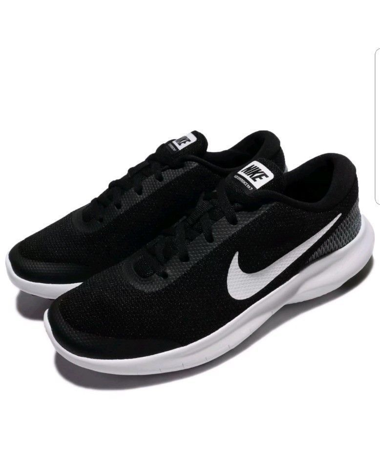 5ebe6f22adeb NIKE FLEX EXPERIENCE RN 7 Mens Black White Running shoes SZ 13