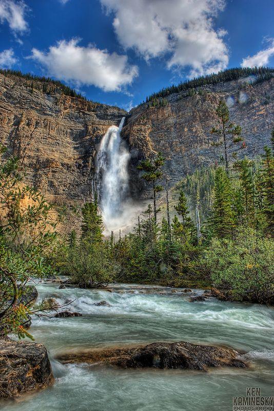 Takakkaw Falls located in Yoho National Park, near Field