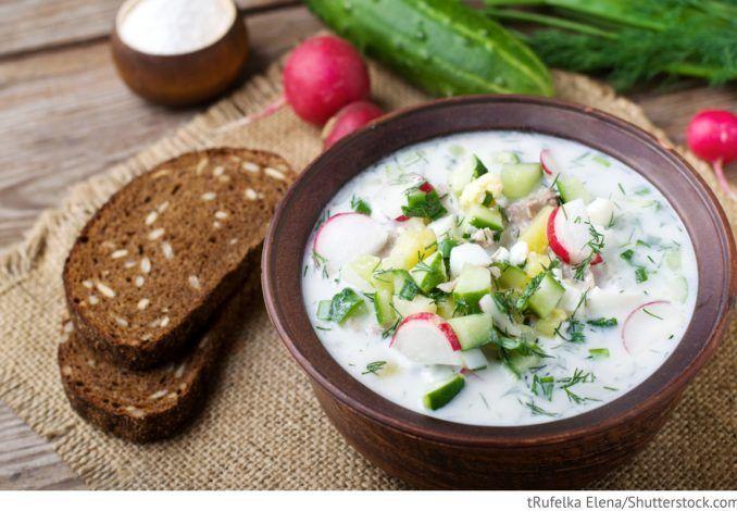 Kalte Gemüsesuppe Okroschka - Окрошка #okroschkarezept