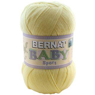 Solid Baby Yellow Bernat Baby Big Ball Sport Yarn Single Ball 12.3 Ounce