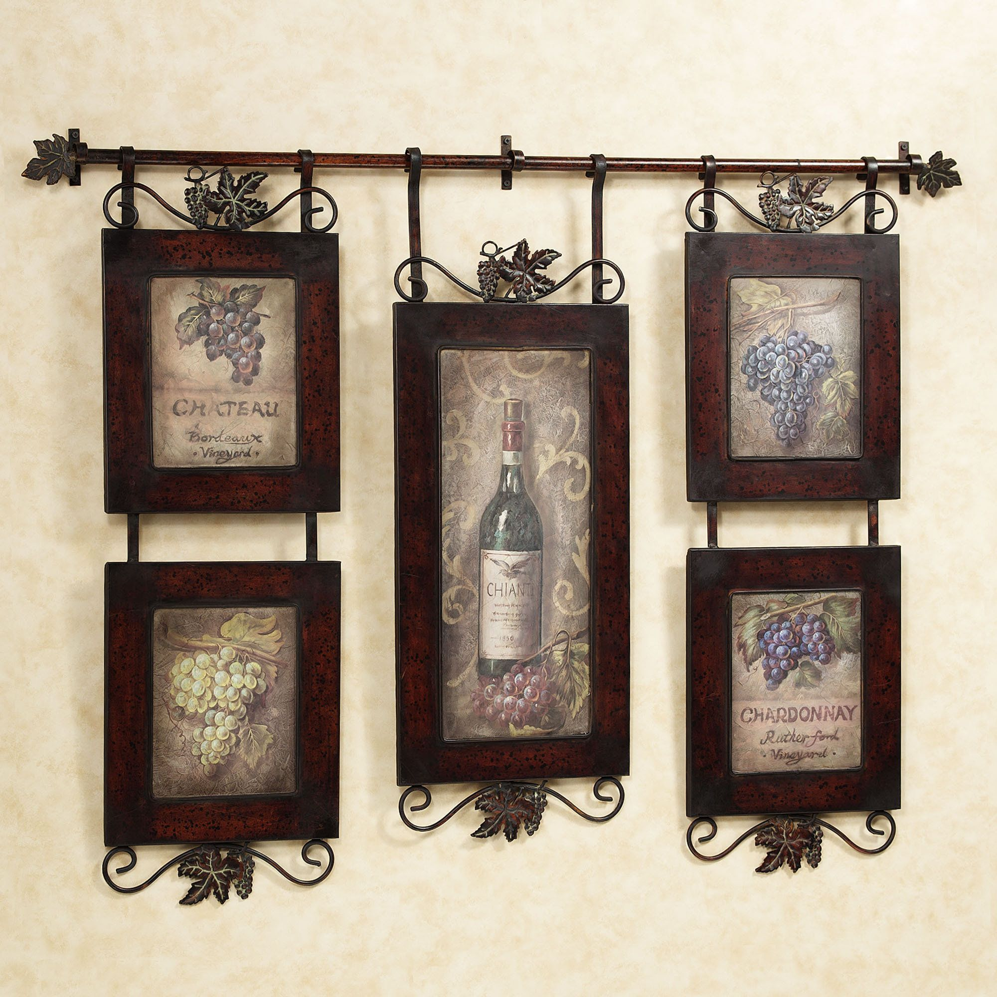 Emilion wine wall art wall decor kitchens and walls for Kitchen wall art sets