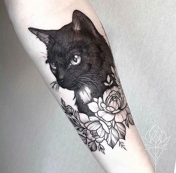 35 Best cat tattoo designs for men and women - HomeLoveIn