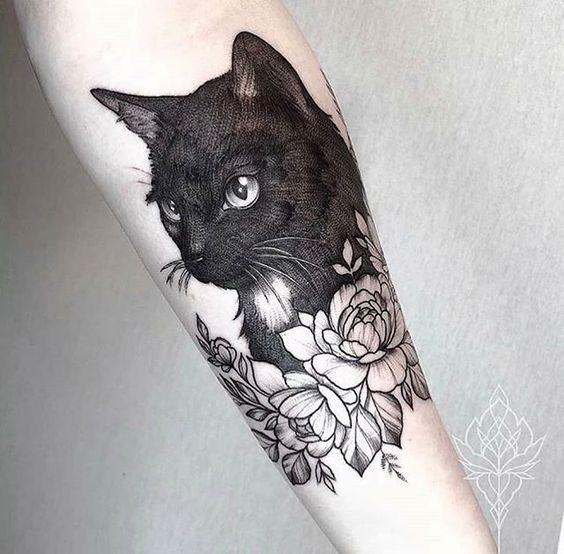 Pin By Shirs E Diaz On Creativo Cat Tattoo Designs Tattoos Cat Tattoo