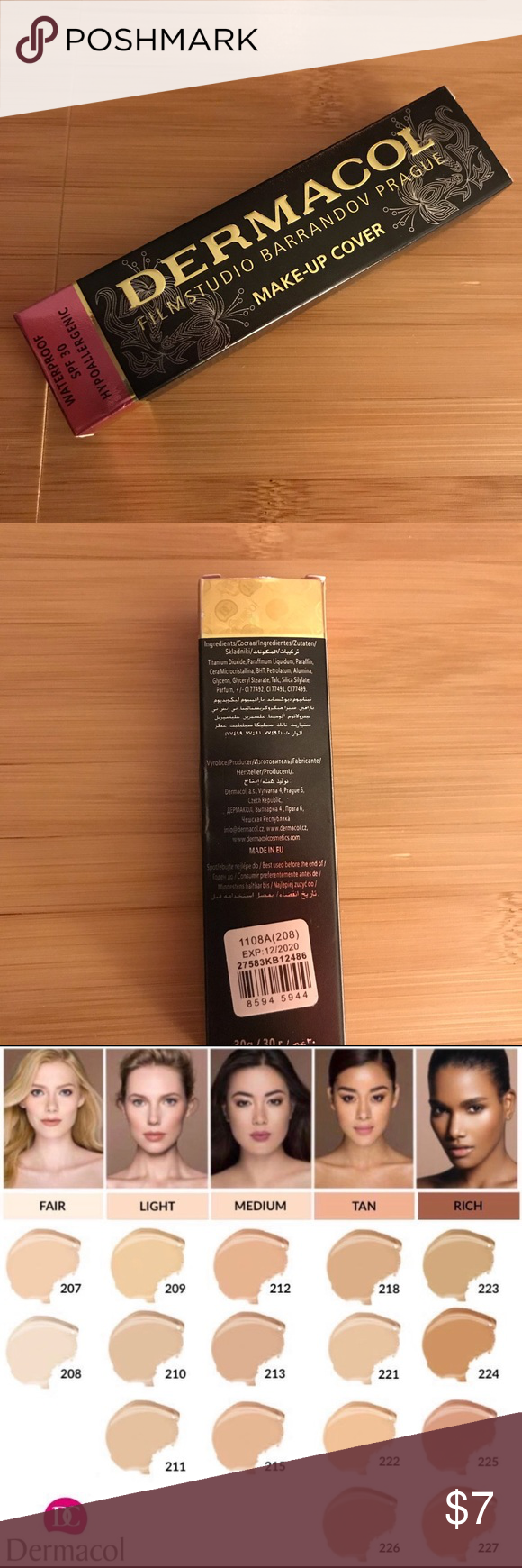 Dermacol Makeup cover concealer for tats,scar etc Dark