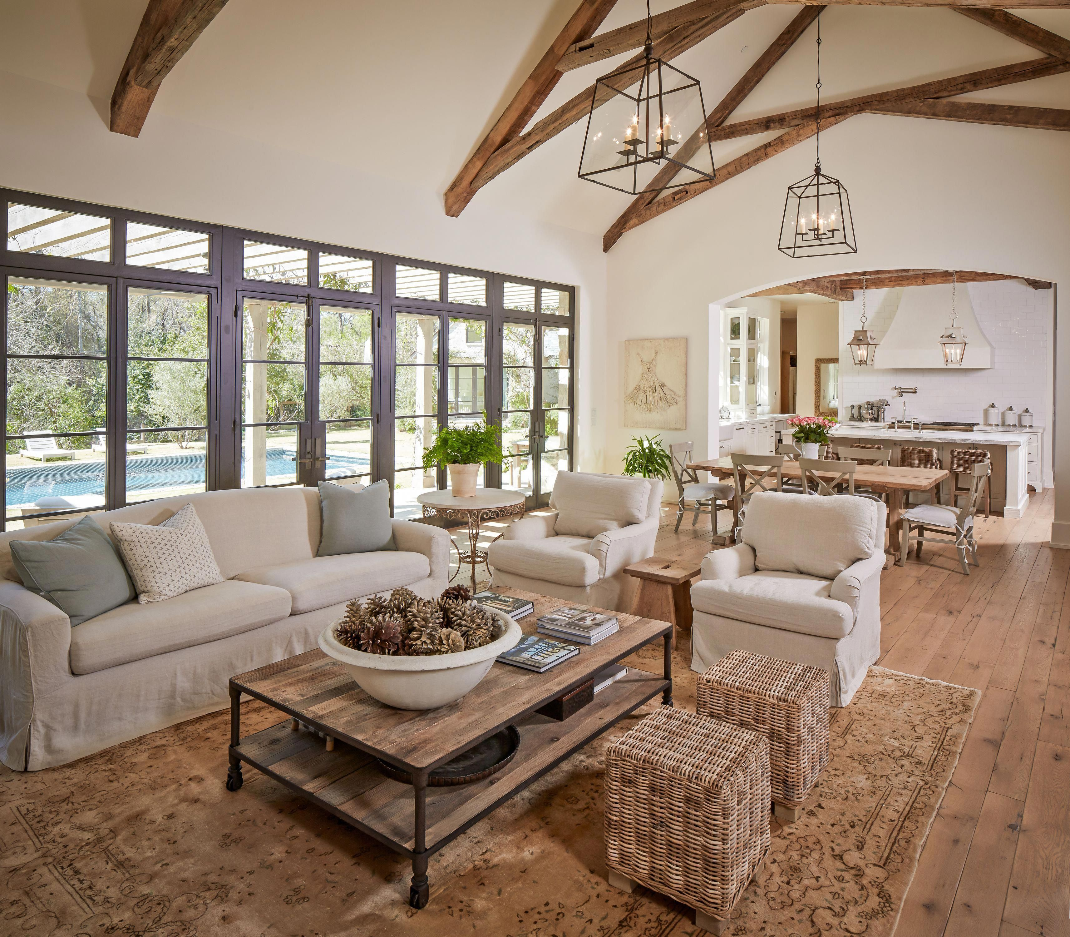 If You Must Choose One Flooring Rug That Has A Solid Color You Ought To French Country Living Room Living Room Furniture Layout Open Kitchen And Living Room
