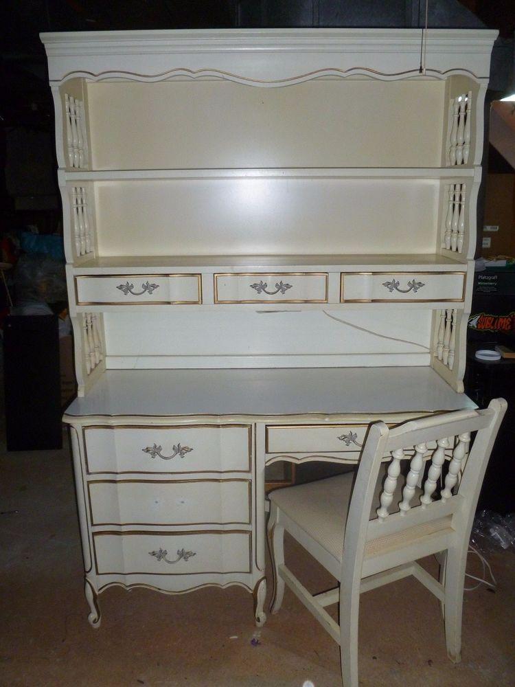 Vintage 4 Piece French Provincial Girls Bedroom Set Desk ...