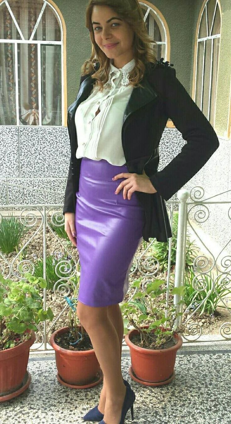 Secretary Outfits, Tight Skirts, Skirt Suit, Suit Jackets, Leather Skirts,  Pencil Skirts, Satin Blouses, Leather, Jackets