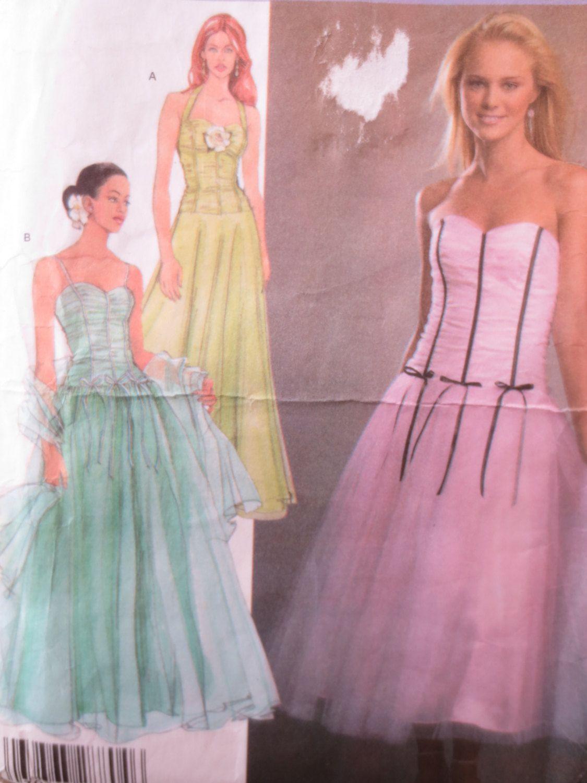 Simplicity 4686 Sewing Pattern, Jessica McClintock Dress, 2004 Prom ...