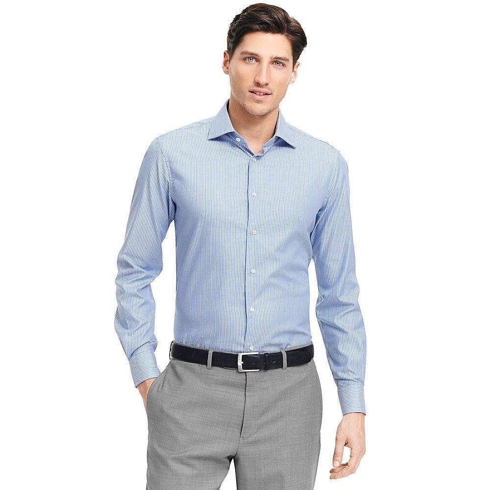 Tailored slim fit white dress shirt