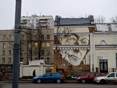 Alexandre Farto - muro en Moscú