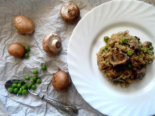 Culto Pelo Corpo: [Receita] Quinoa com ervilhas e cogumelos