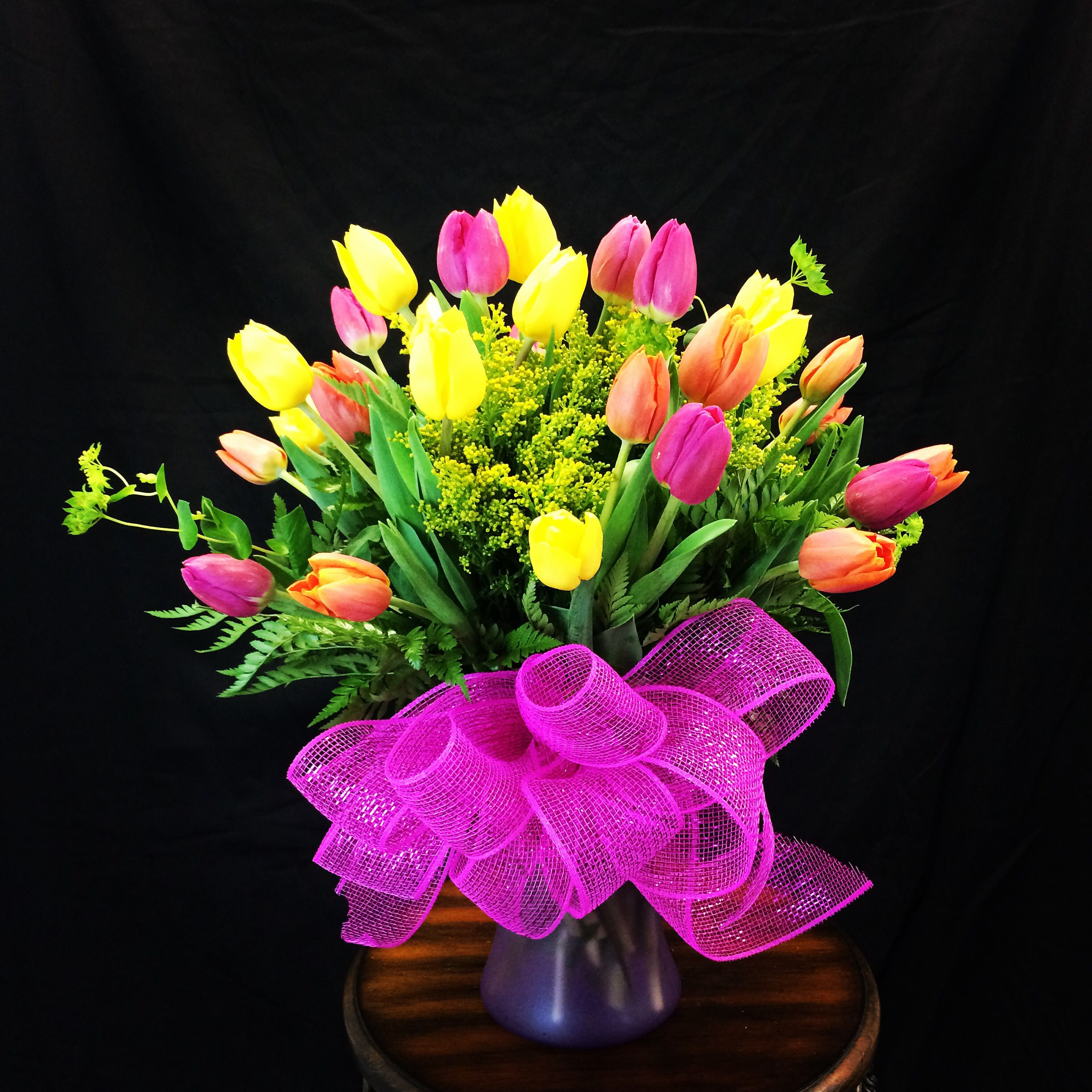 Today's Beautiful Mix Tulip arrangement. Send flowers from