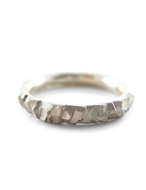 Elegant Meteorite wedding ring in karat white gold mens wedding ring mitment ring solid gold Sharon
