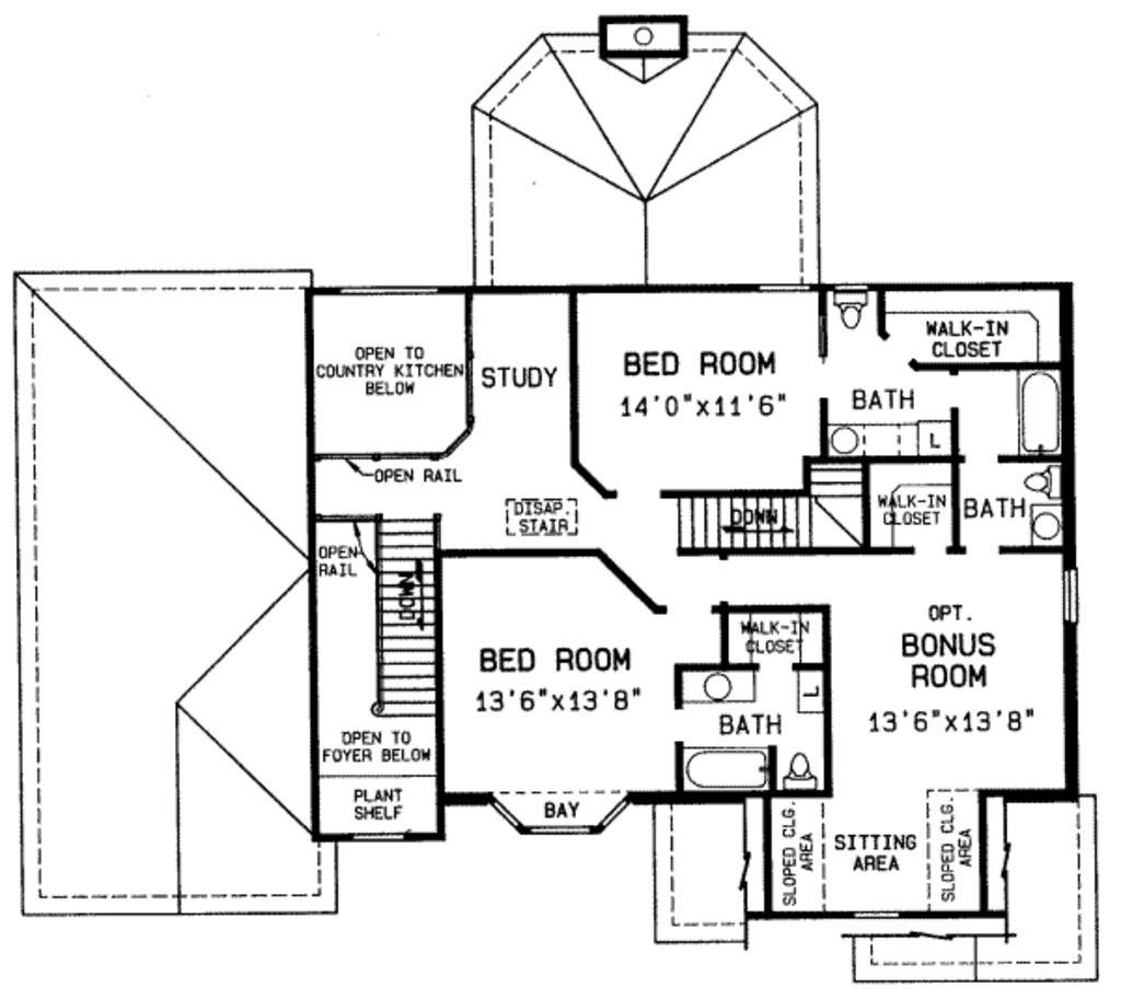 Upper floor popsicle stick house plans pinterest for Stick built cabin plans
