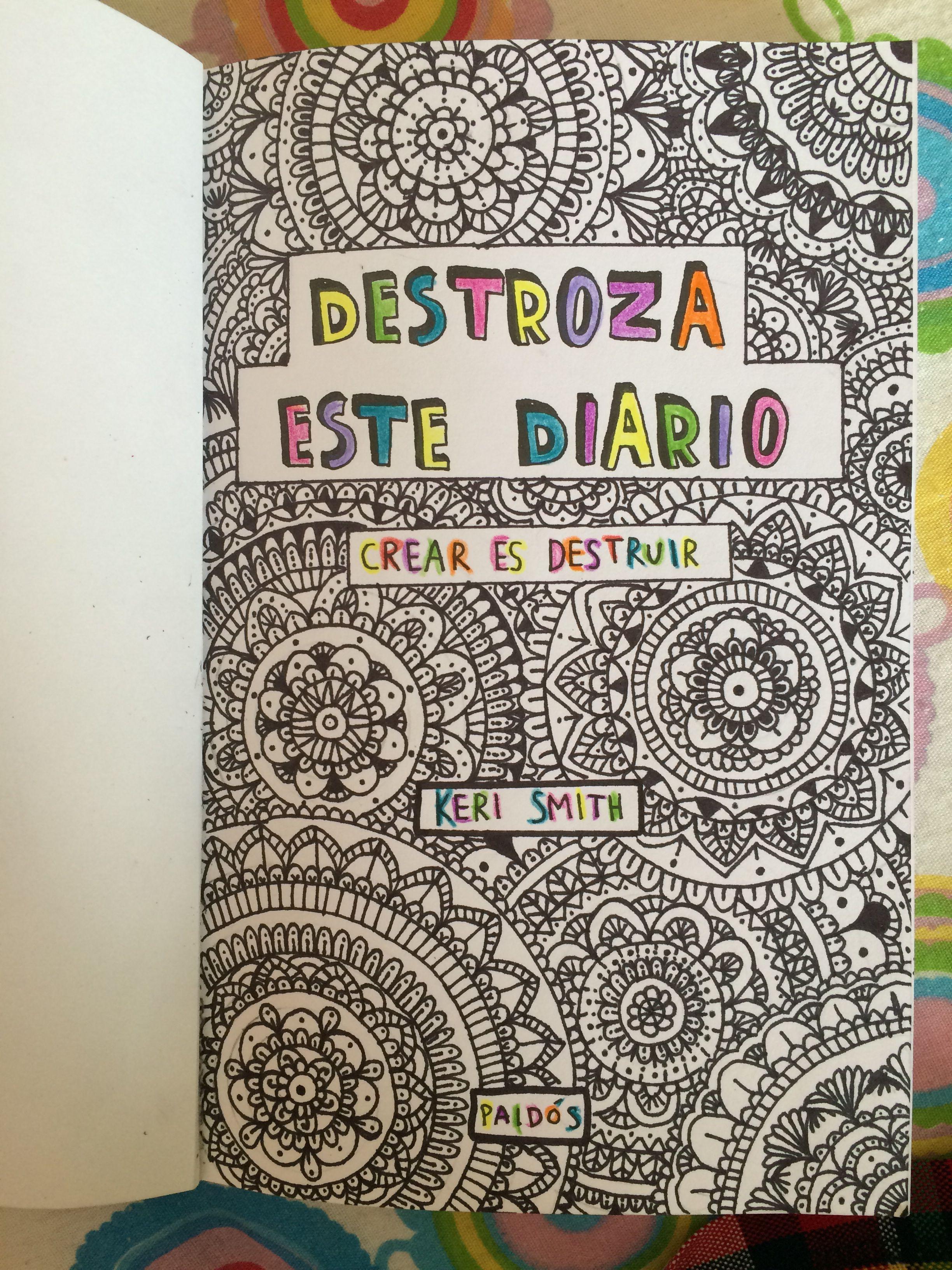 Destroza Este Diario Zentangle Art Wrek This Journal Destroza Este Diario Libro Destroza Este Diario útiles Para La Escuela