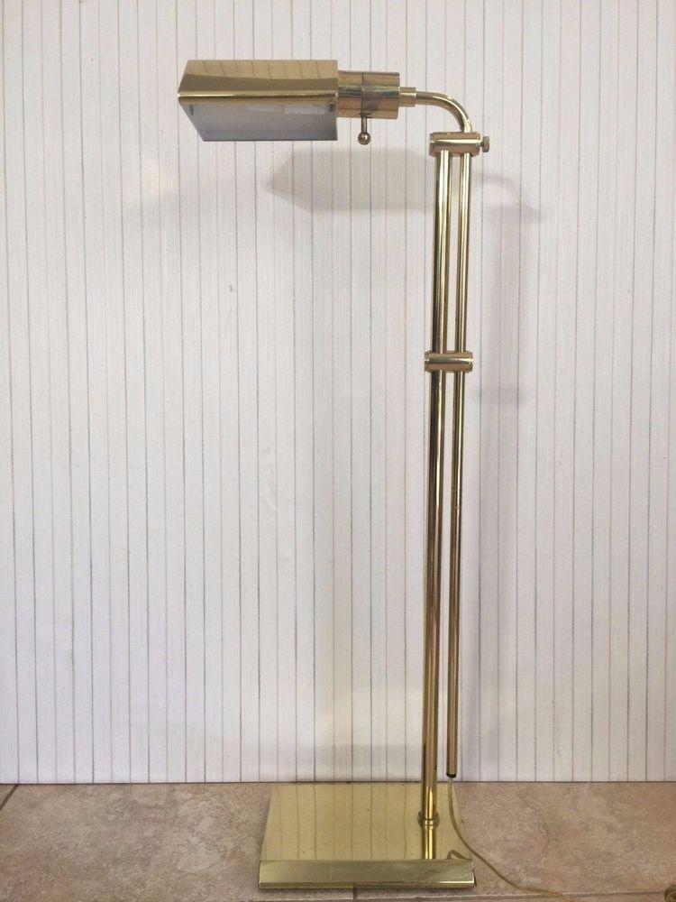Vintage Brass Adjustable Reading Floor Lamp Reading lamp