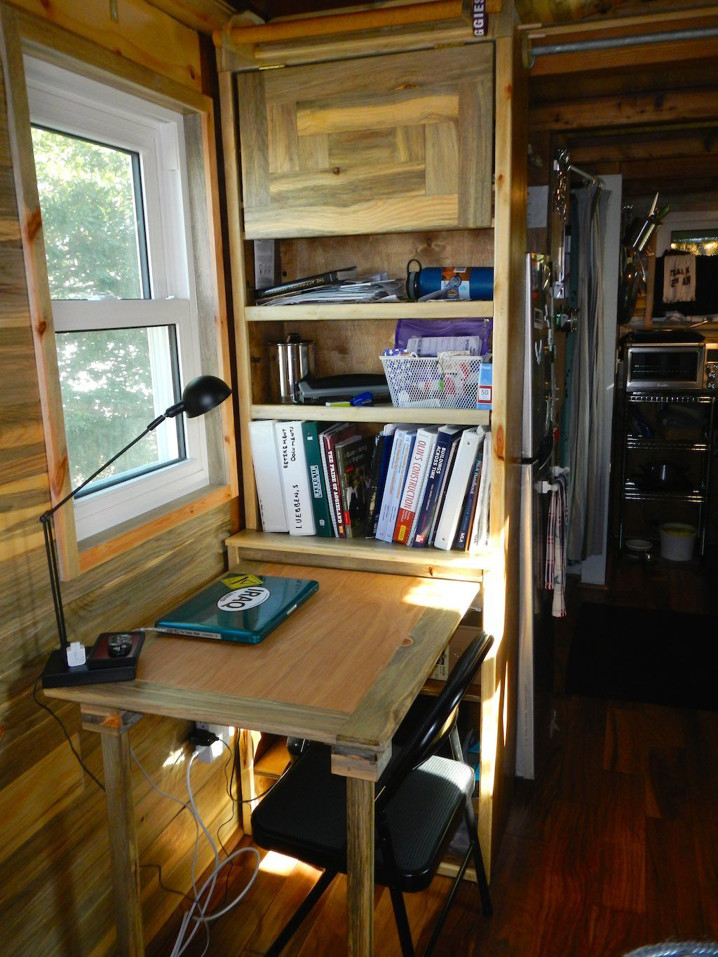Stephani's tiny house on wheels built to save money while in college in College Station, Texas   pinned by haw-creek.com