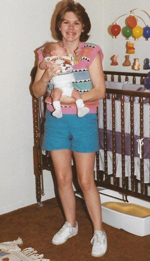 Terri Jones and son, Vincent Jones in Dallas TX in September 1988