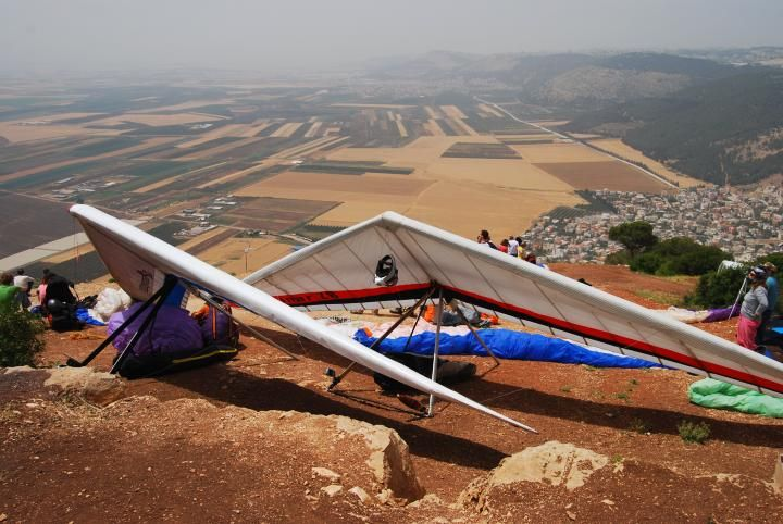 Mount Tabor, Israel  The popular site where the hang gliders