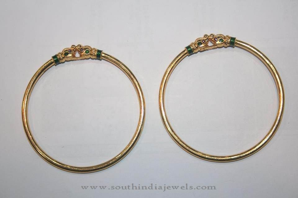 Gold Light Weight Everyday Wear Bangles | Gold bangles design ...