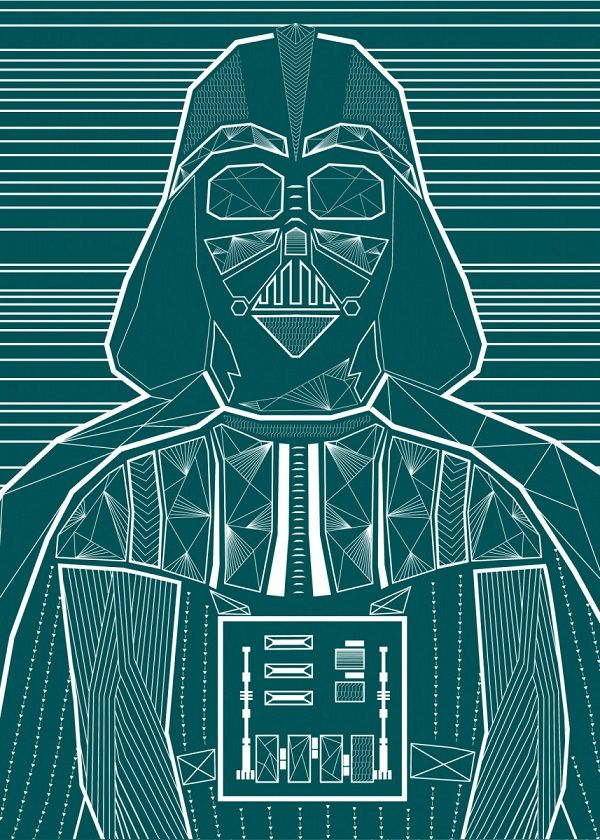 Star Wars Negative Illusion Wars Displate Posters