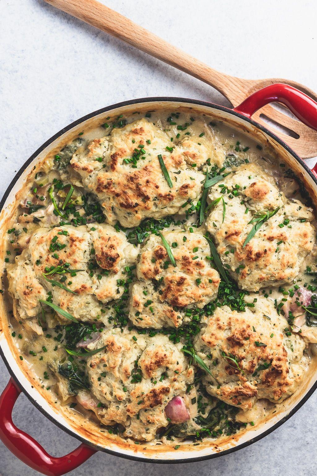Spring Chicken And Drop Biscuits Recipe Drop Biscuits Healthy