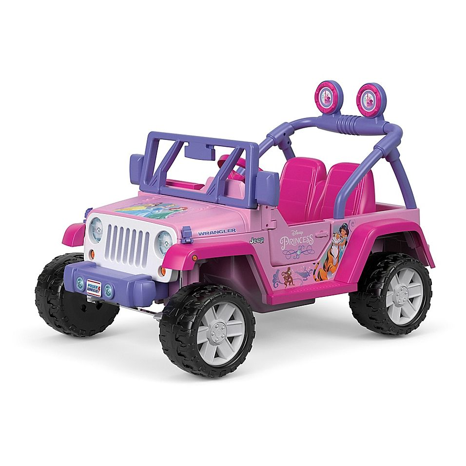 Fisher Price Power Wheels Disney Princess Jeep Wrangler In Pink With Images Jeep Wrangler Power Wheels Ride On Toys