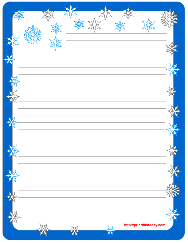 Lined Stationery Pads Free Printable winter Stationery – Lined Letter Writing Paper